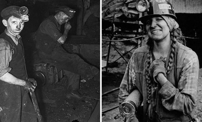 vintage coal mining